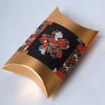 Example of a storage or gift box embellished with chiyogami.