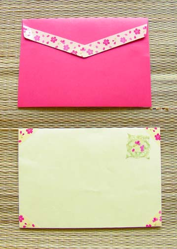 simple envelope decorations with fun tape craft ideas from miho suzuki