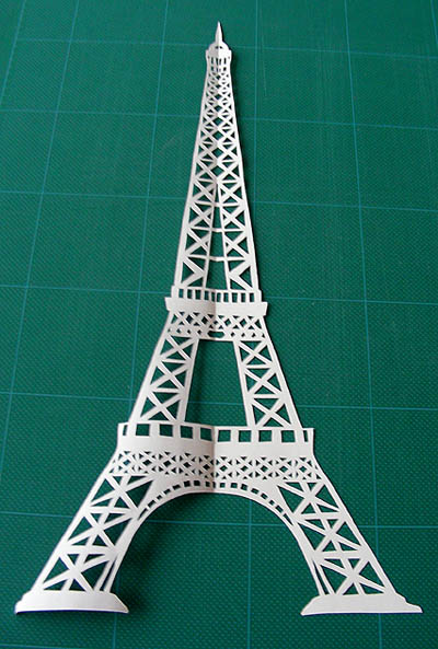 Boxing day madness kirigami how to craft ideas from for Eiffel tower model template