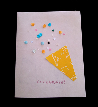 confetti greeting cards