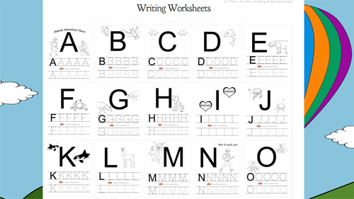 photo about Free Printable Abc Book titled Cost-free Printable Alphabet Worksheets versus AnimalAdventureBook