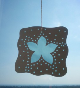 flower fake stained glass
