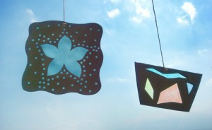 crafts for kids -  fake stained glass