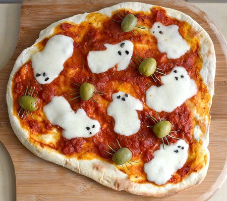 Cute Halloween Pizza