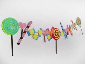 Finished paper candy garland!