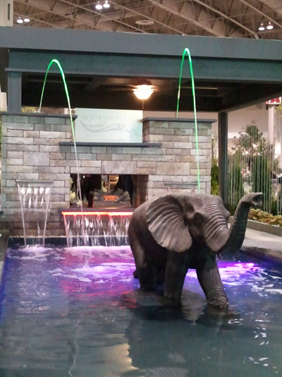 Elephant outdoor fountain