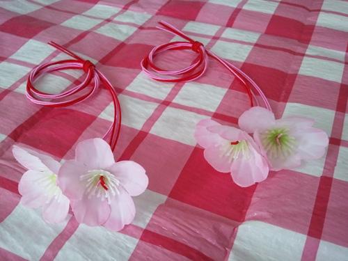 Japanese mizuhiki cords - cherry blossom