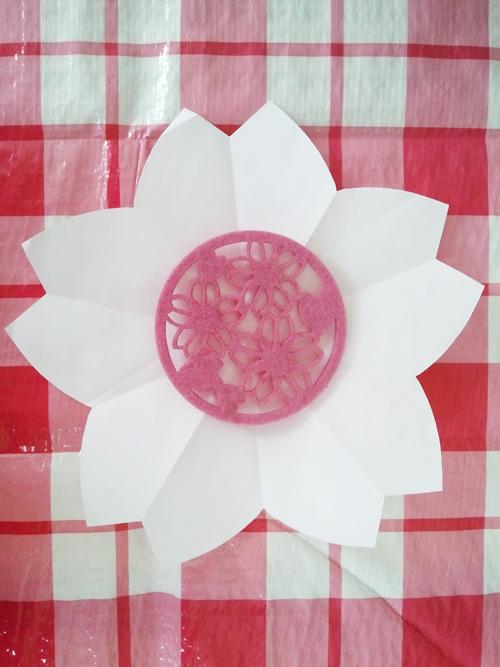 Kirigami cherry blossom